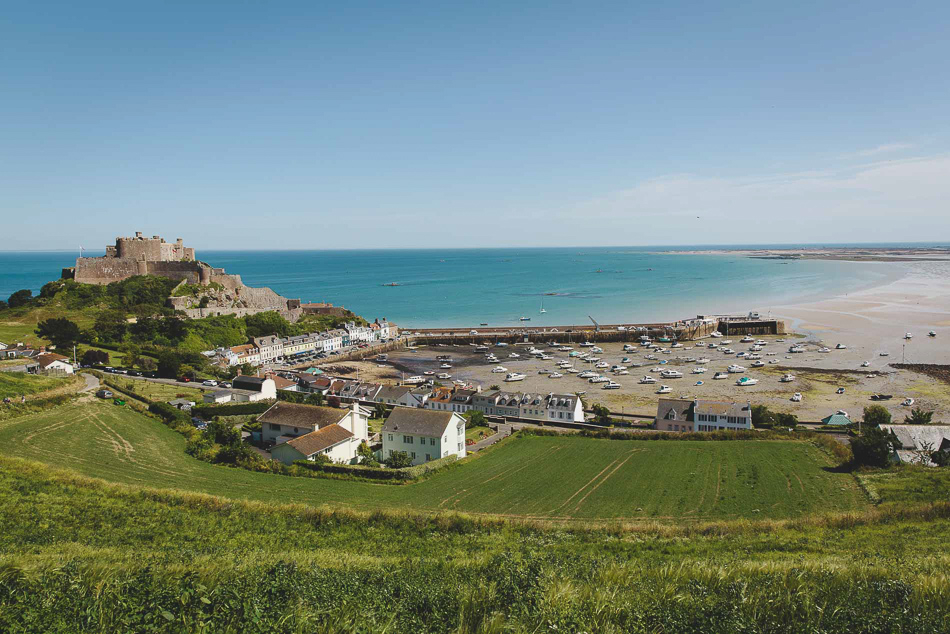 View of Gorey village in Jersey, Channel Islands