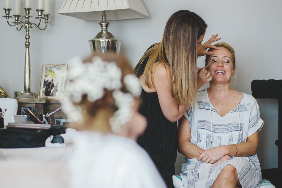 Bridal Preparations at a wedding in Jersey, Channel Islands