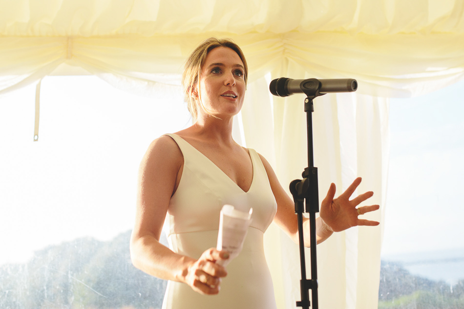 The brides speech at a wedding in Jersey, Channel Islands