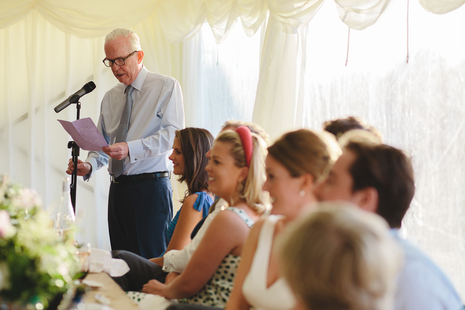 Father of the brides speech at a wedding in Jersey, Channel Islands