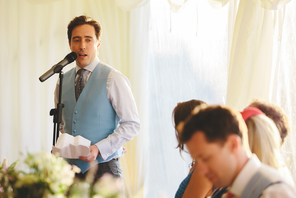The grooms speech at a wedding in Jersey, Channel Islands