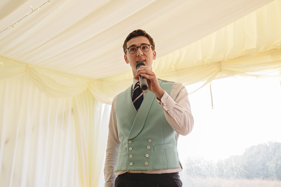 The best man speech at a wedding in Jersey, Channel Islands