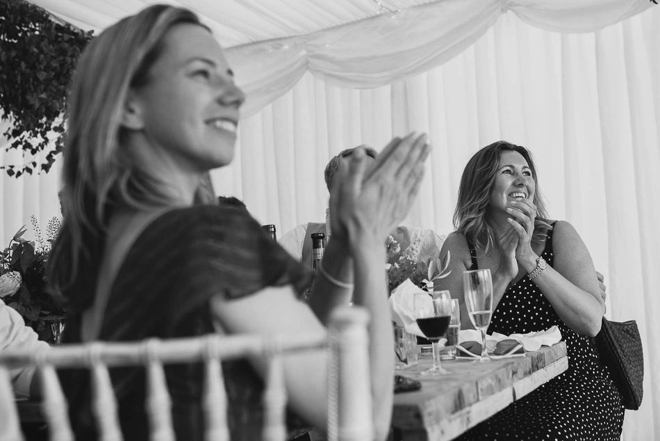 Guests reaction at a wedding in Jersey, Channel Islands