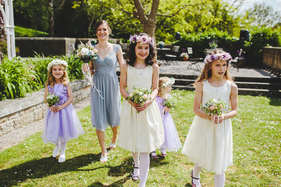 Flower girls walking to ceremony