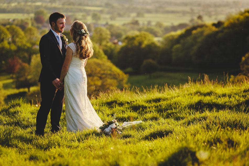 Barley Wood Wedding Photography Sunset Portrait