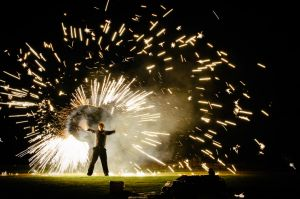 fire show at orchardleigh