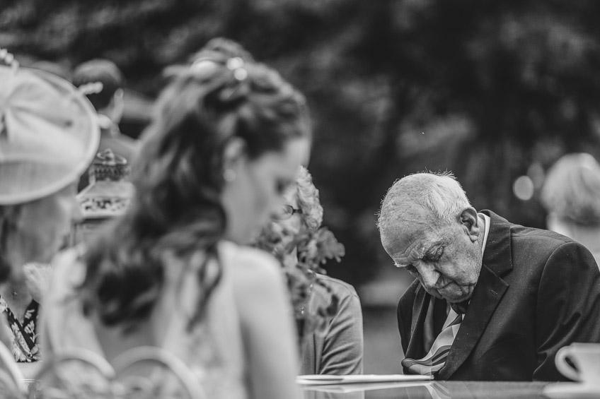 wedding guest asleep