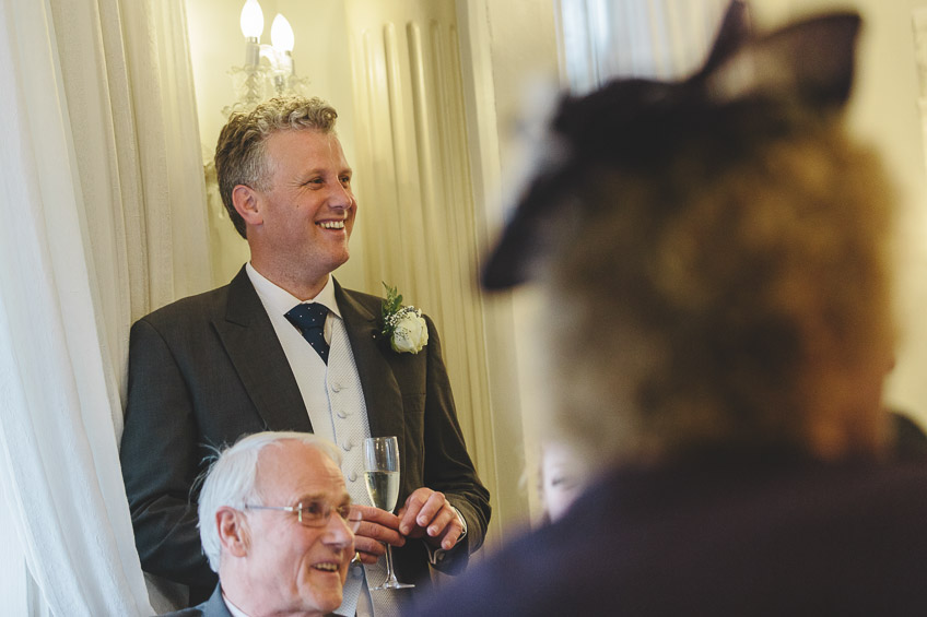 guest smiling at speech