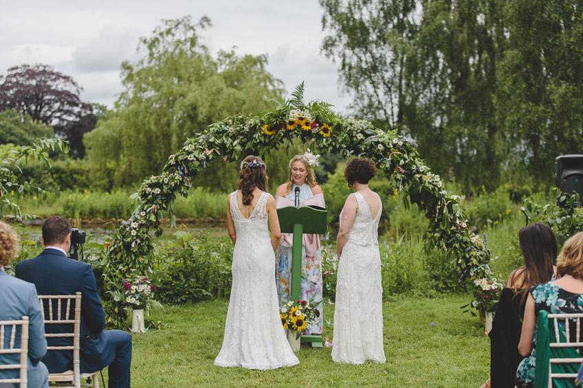 the wedding ceremony at the Matara Centre