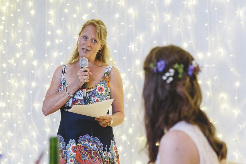 Brides sister speaking