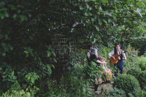 musicians playing in garden