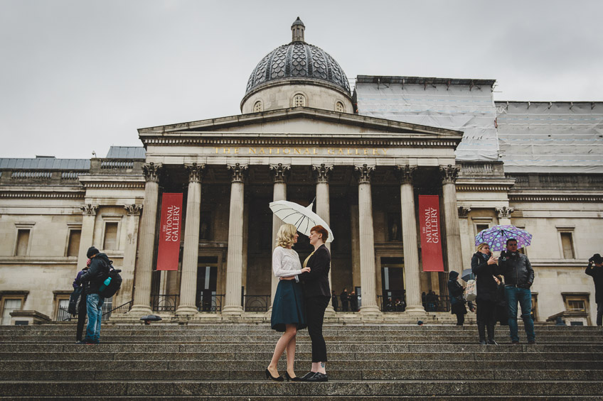 London Engagement Photography Trafalgar Square
