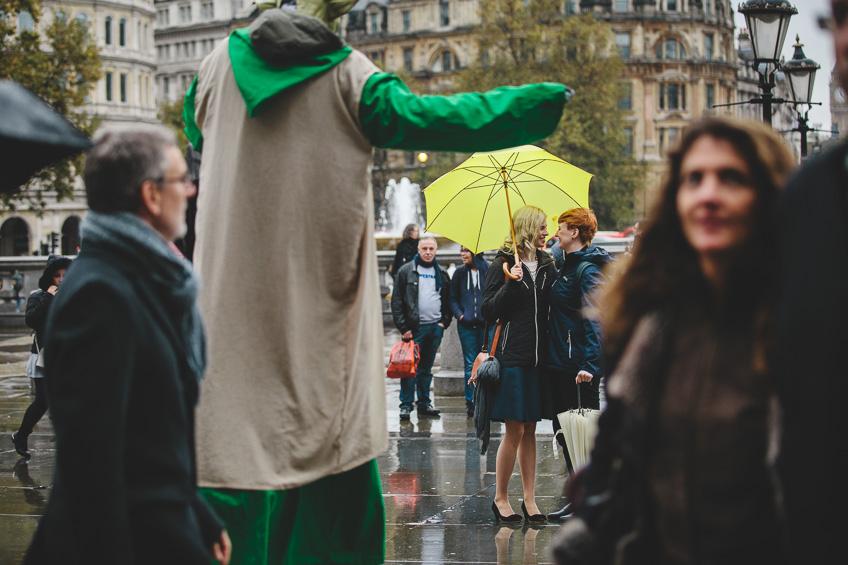 London Pre Wedding Shoot Trafalgar Square