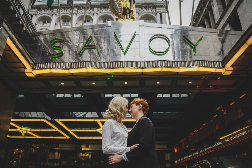 London Pre Wedding Photography Savoy Hotel
