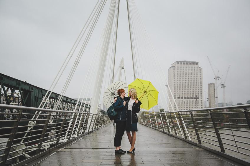 London engagement photography golden jubilee bridge