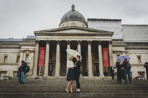 London Engagement Photography Trafalgar Square
