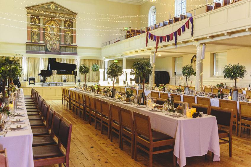 St Georges Hall Wedding Table Settings