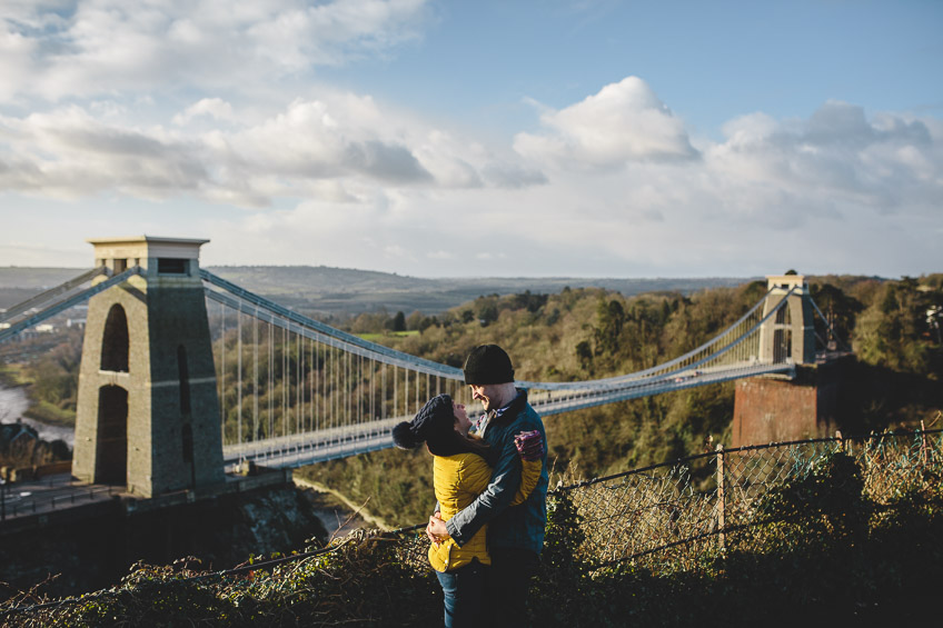 Clifton Suspension Bridge Engagement Shoot